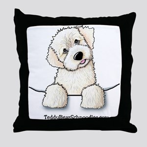 White Schnoodle Pocket Throw Pillow