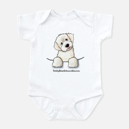 White Schnoodle Pocket Infant Creeper