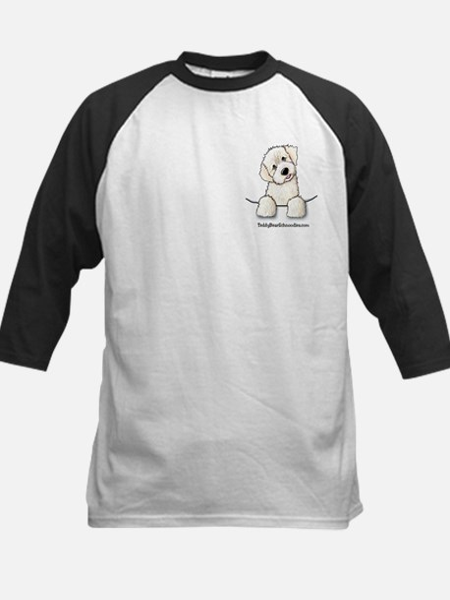 White Schnoodle Pocket Kids Baseball Jersey