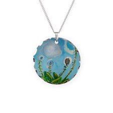 Painting by Deborah Medwin. Necklace Circle Charm