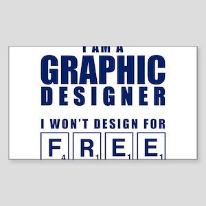NO FREE DESIGNS Sticker (Rectangle)