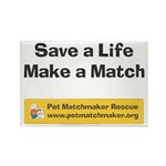 Dog Rescue Save a Life Rectangle Magnet