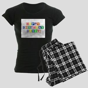 Happy Birthday Daddy Women's Dark Pajamas