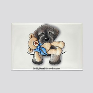 Pocket Wookie Schnoodle w/Bear Rectangle Magnet