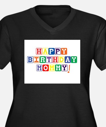 Happy Birthday Mommy.psd Women's Plus Size V-Neck