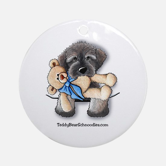 Pocket Wookie Schnoodle w/Bear Ornament (Round)