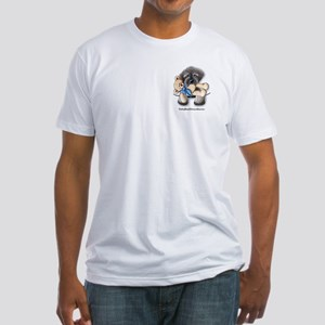 Pocket Wookie Schnoodle w/Bear Fitted T-Shirt