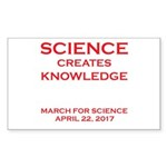 Science Creates Knowledg Sticker (Rectangle 50 pk)