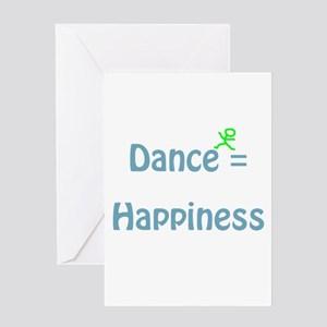 Dance Equals Happiness Greeting Card