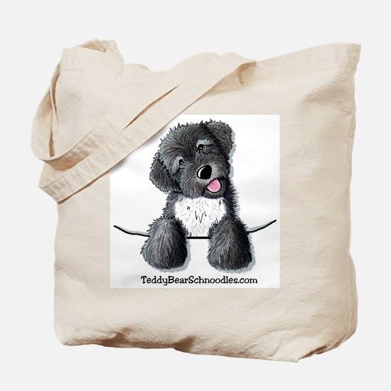 Pocket Black Schnoodle Tote Bag