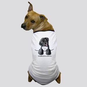 Pocket Black Schnoodle Dog T-Shirt