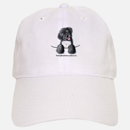 Pocket Black Schnoodle Baseball Baseball Cap