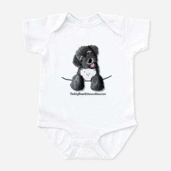 Pocket Black Schnoodle Infant Creeper