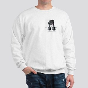 Pocket Black Schnoodle Sweatshirt