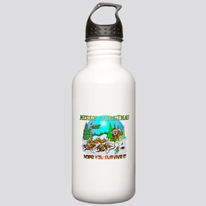 Zombie Christmas Killings Stainless Water Bottle 1