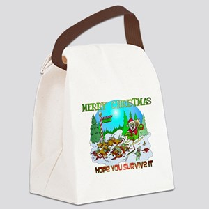 Zombie Christmas Killings Canvas Lunch Bag