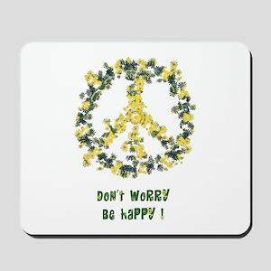Solarium Flower Peace - Be Happy Mousepad