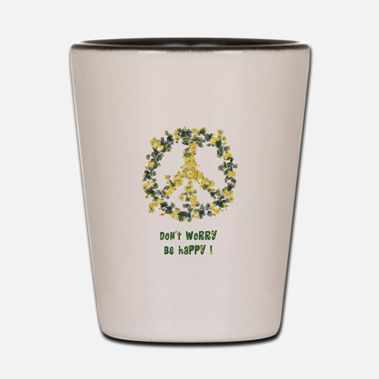 Solarium Flower Peace - Be Happy Shot Glass