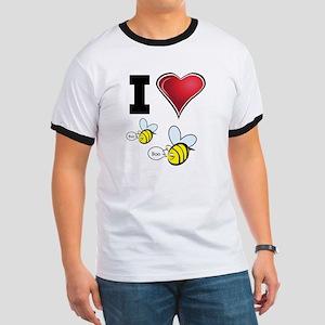 I Love Boo Bees Ringer T
