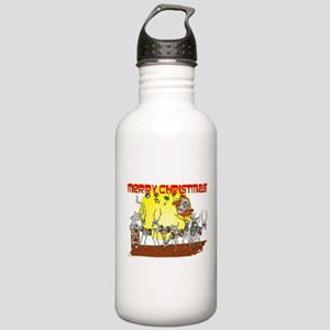 Zombie Santa Delivery Stainless Water Bottle 1.0L