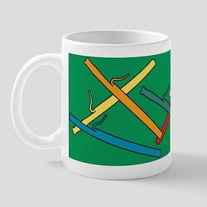 Colorful Bassoons Green Mug