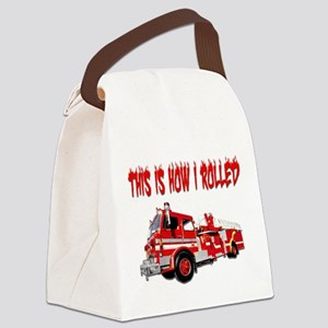 Retired Firefighter- How I Rolled Canvas Lunch Bag