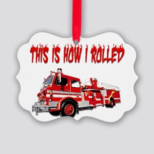 Retired Firefighter- How I Rolled Picture Ornament