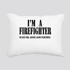 Im a firefighter black Rectangular Canvas Pill