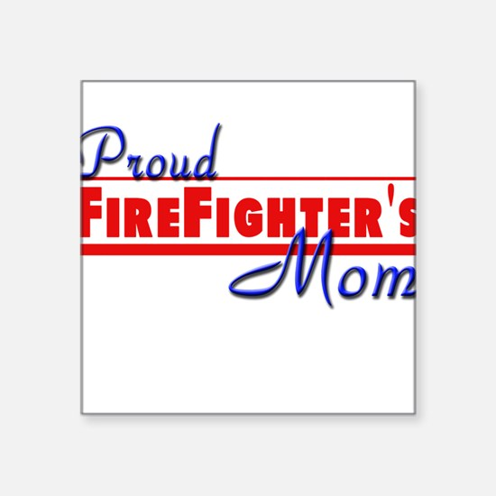 "proud mom.png Square Sticker 3"" x 3"""