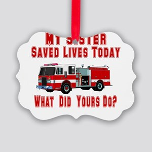 savedlivesfiresister Picture Ornament