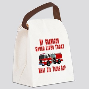 savedlivesfiregrandson Canvas Lunch Bag