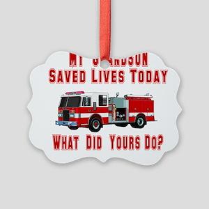 savedlivesfiregrandson Picture Ornament