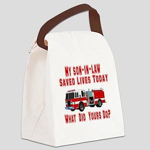 savedlivesfiresoninlaw Canvas Lunch Bag