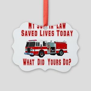savedlivesfiresoninlaw Picture Ornament