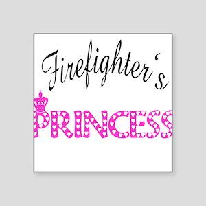 "firefightersprincess Square Sticker 3"" x 3"""