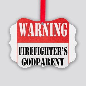 dangersignFFgodparent Picture Ornament