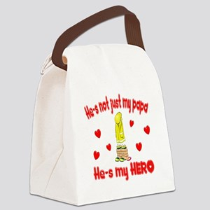not just my papa hearts Canvas Lunch Bag