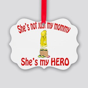 not just my mommy fire Picture Ornament