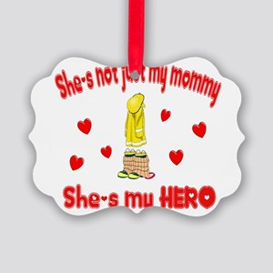 not just my mommy hearts Picture Ornament