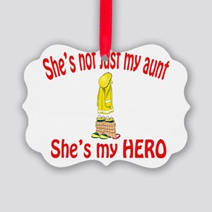 not just my aunt fire Picture Ornament