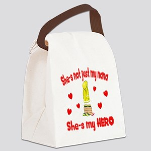 not just my nana hearts Canvas Lunch Bag