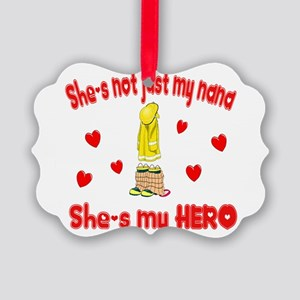 not just my nana hearts Picture Ornament