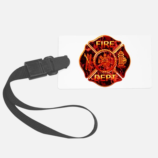 red flame maltese copy.png Luggage Tag
