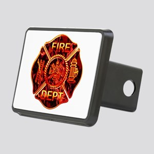 red flame maltese copy Rectangular Hitch Cover