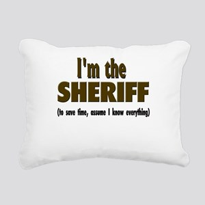 Im the sheriff copy Rectangular Canvas Pillow