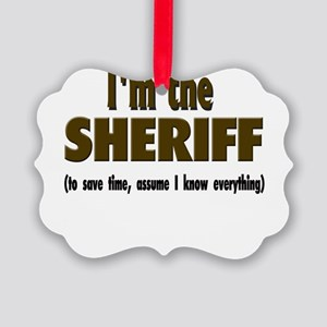Im the sheriff copy Picture Ornament
