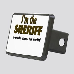Im the sheriff copy Rectangular Hitch Cover