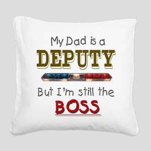 3-dadisdeputypolice Square Canvas Pillow