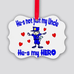 not just my uncle hearts police Picture Orname