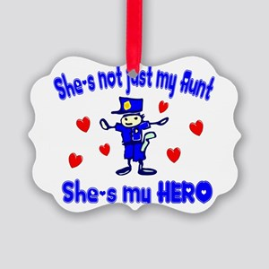 not just my aunt hearts police Picture Ornamen
